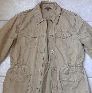 Land's End dark khaki safari jacket